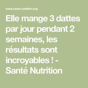 Elle mange 3 dattes par jour pendant 2 semaines, les résultats sont incroyables ! - Santé Nutrition