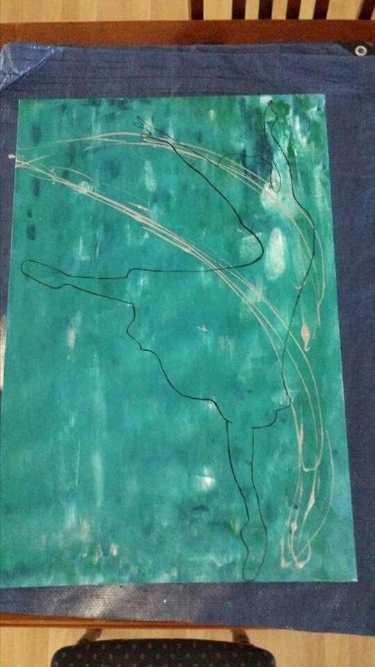 Dancer acrylic on canvas