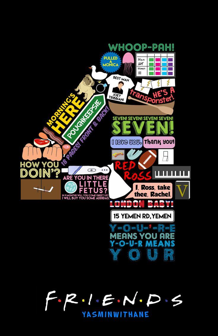 Friends Season 4 Collage - brilliant