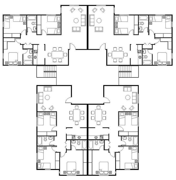 three story apartment building plans - Google Search