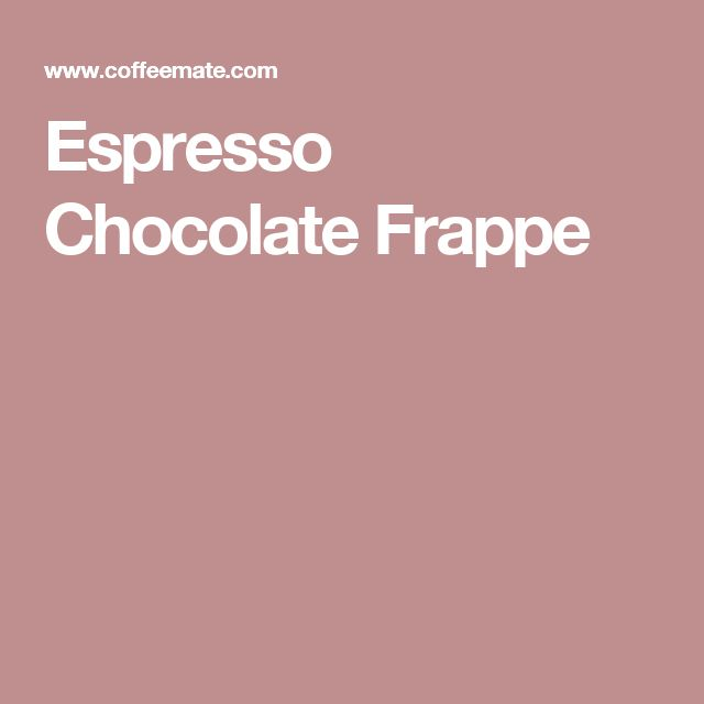 Espresso Chocolate Frappe