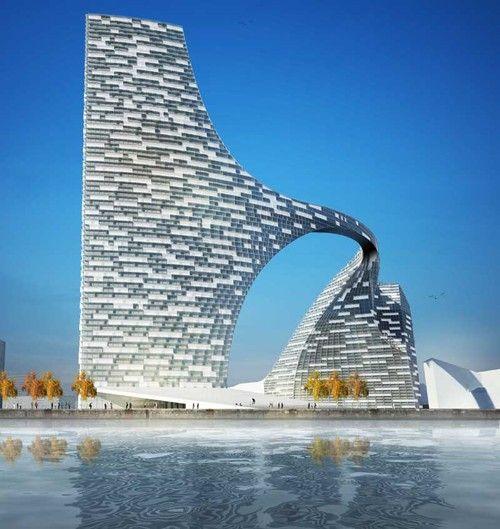 Copenhagen Arch, city gate & bridge concept by 3XN Architects