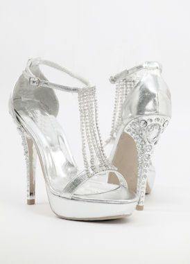 Best 25  Silver bridesmaid shoes ideas on Pinterest | Silver high ...