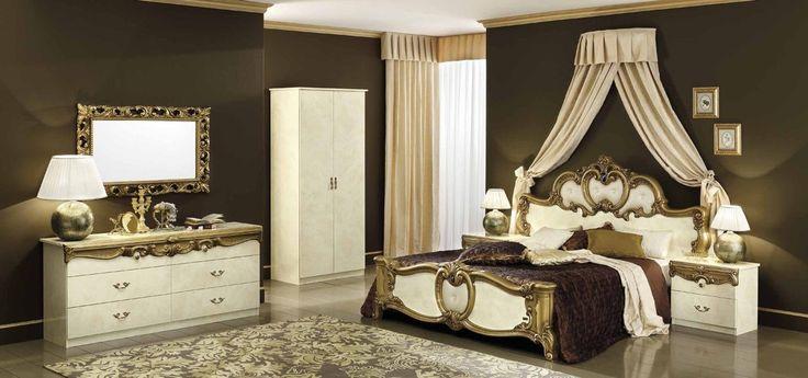 Έπιπλα Σπιτιού - Κλασικό Υπνοδωμάτιο Barocco Ivory Gold