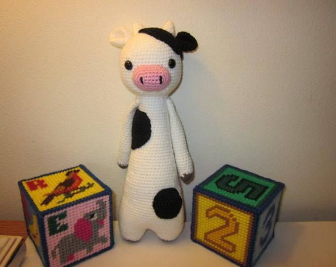 Cow Toy, Cow Stuffed Toy, Cow Amigrurumi Toy, Cow Crochet Toy, Cow Han