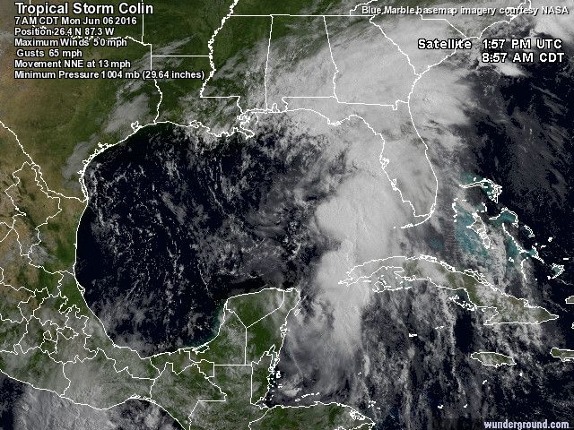 Tropical Storm Colin      Last Updated: 6/6/2016, 7:00:00 AM