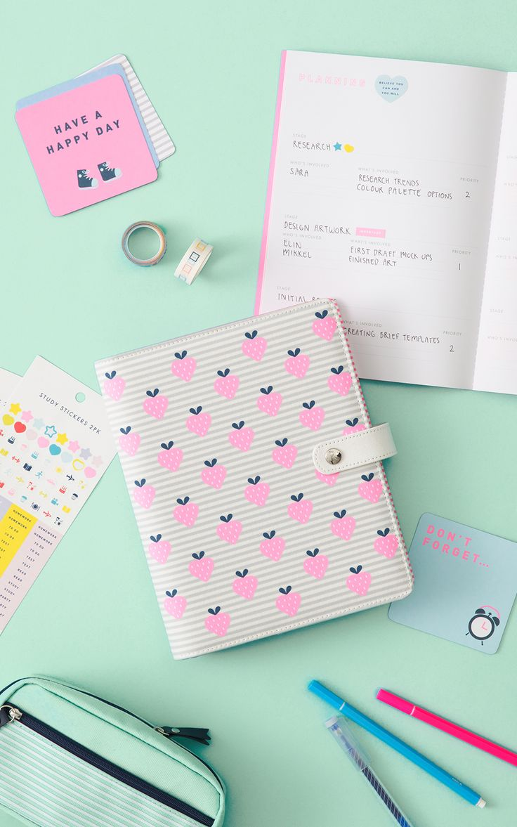 Strawberry Study Planner | School Stationery | Study Essentials
