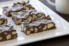 A glammed up version of broken biscuit fudge using shortbread, melted chocolate etc...at foodlovers.co.nz