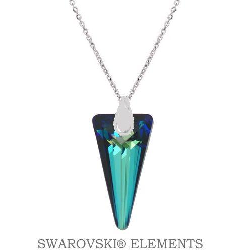 Náhrdelník s kryštálom SPIKE Swarovski Elements Bermuda Blue 18 mm Divine Jewellery eshop