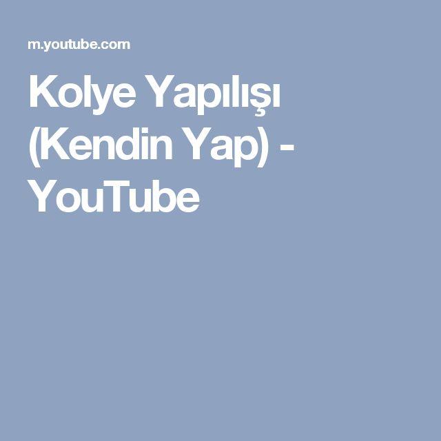 Kolye Yapılışı (Kendin Yap) - YouTube