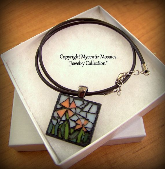 Together with You Mosaic Pendant Stained Glass by mycentirmosaics, $25.00