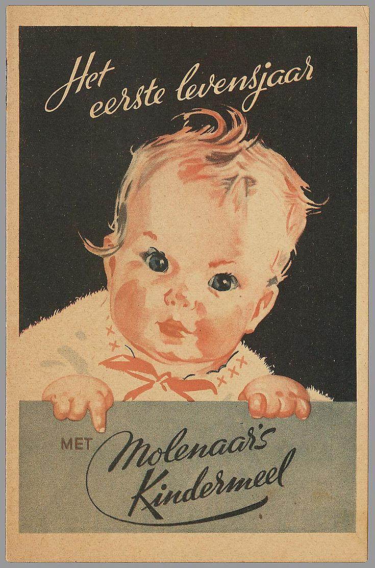 """Boekje """"Het eerste levensjaar met Molenaars' kindermeel""""  Nooit gezien maar erin zou een foto van een tweeling staan, mijn moeder en haar zus, uit Westzaan."""