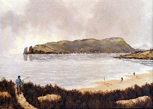 Tom Cullen 'Skerries Bay' #art #IrishArt #landscape #painting #DukeStreetGallery