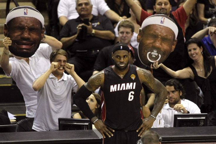 Week of Jun 7-13, 2014  San Antonio Spurs fans taunt the Miami Heat's LeBron James during Game 2 of the National Basketball Association finals on Sunday. Mike Stone/Reuters