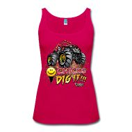 Lady's chicks dig it tank top is a number 1 shirt for the summer. Its so fashionable and so cool. I have different styles, sizes and prices for these shirts. This tank top is $22.00. You can purchase this shirt at  http://offroadstyles.spreadshirt.com/chicks-dig-it-mud-truck-I1000544616