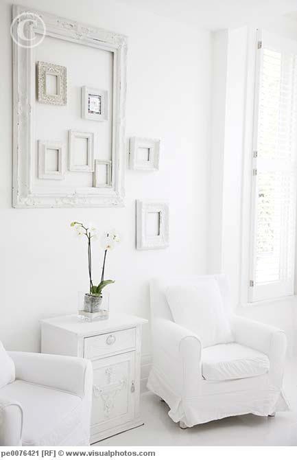 little white frames inside on big white frame