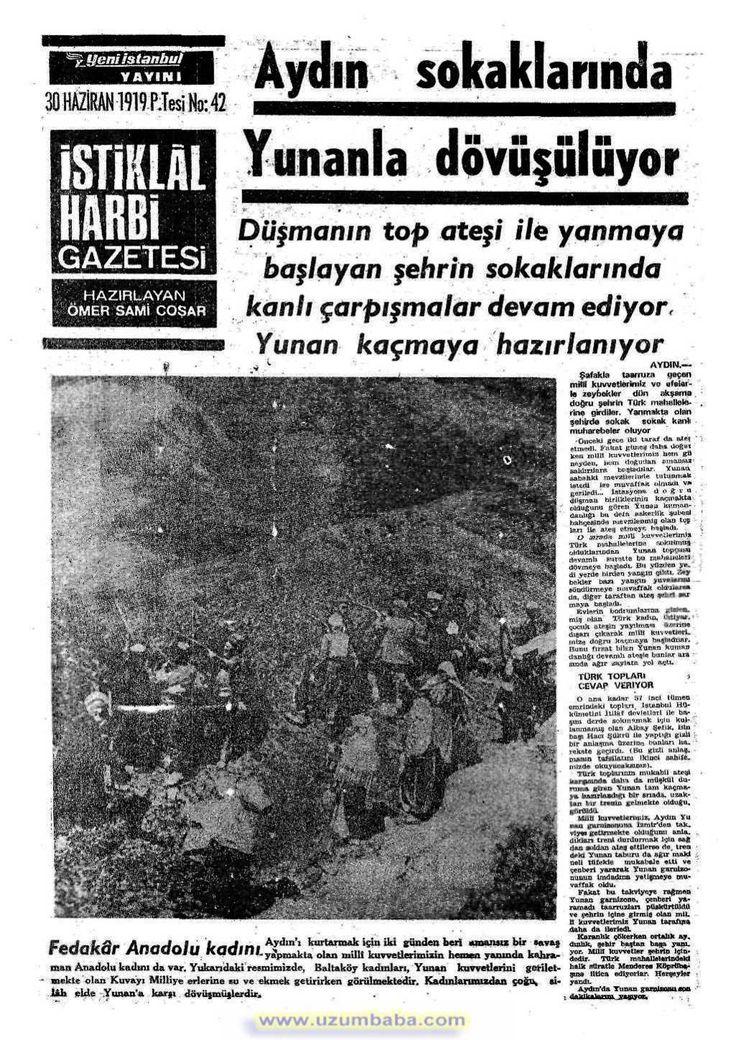 istiklal harbi gazetesi 30 haziran 1919