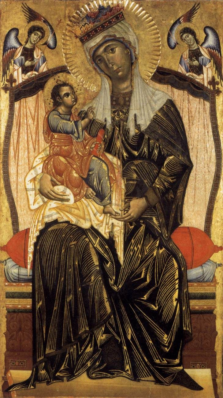 COPPO DI MARCOVALDO  [Italian Byzantine Style Painter, ca.1225-1274]  Madonna and Childc. 1265