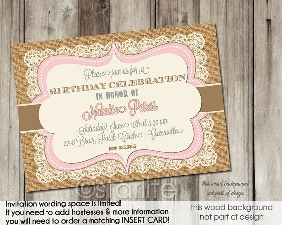 vintage birthday invitations – unitedarmy,