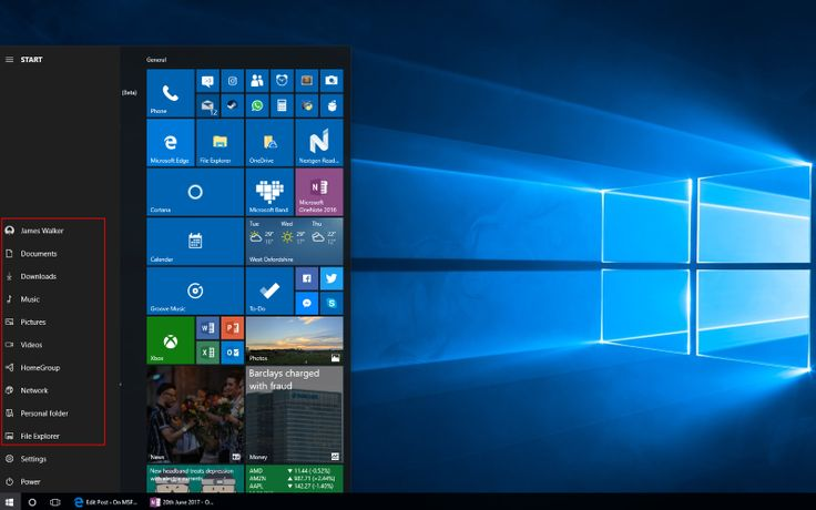 How to customize the Windows 10's Start Menu shortcuts