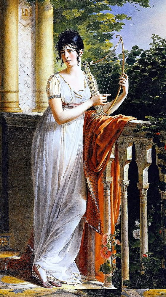 Portrait de Madame d'Arjuzon (nee Pascalie Hosten), exh. Salon 1801. René Théodore Berthon (French, 1776–1859). Oil on canvas. Galerie Didier Aaron. French neo-classical portrait by Berthon, showing the richness of French painting of this period. This student of David was clearly influenced by his master. The painting was exhibited at the Salon of 1801 under the title Portrait of a Lady.