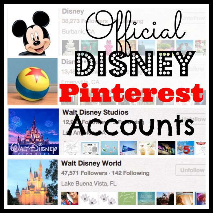 23 Official #Disney Pinterest Accounts and Boards