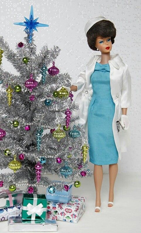 Christmas  barbie -- this looks like a reproduction not an original (too new and fresh) but it's so MCM