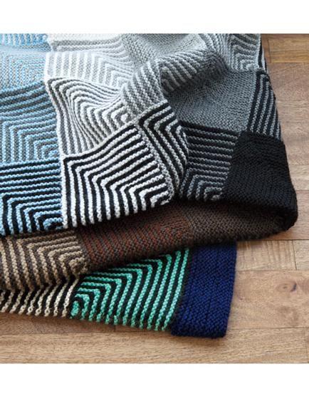 Knitting Afghan Patterns Pinterest : Hue Shift Afghan - Knitting Patterns and Crochet Patterns ...
