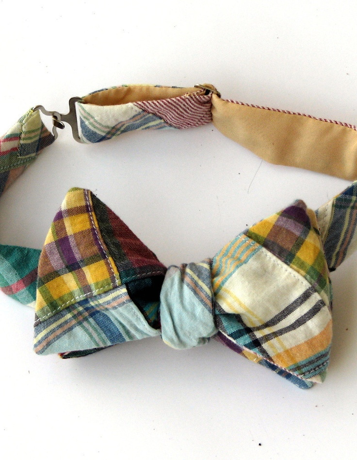 Southwestern Patchwork Madras Bow Tie | Butcher and Baker aprons, knives, cutting boards, clothing, spices, salts, and gear