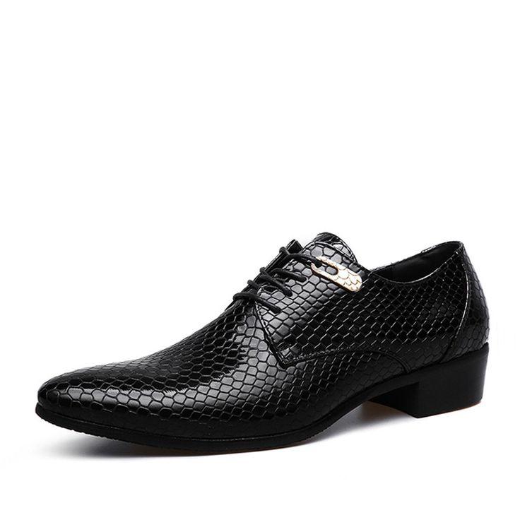 RECOISIN Мужчины Бизнес Оксфорды Острым Носом Квартиры Нежное Свадебное Платье Обувь Серпантин Вечерние Носить Обувь Британские Оксфорды 3511