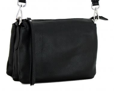 b622efcfaa58c dreigeteilte Tasche Three Nero Gianni Chiarini schwarz Leder ...