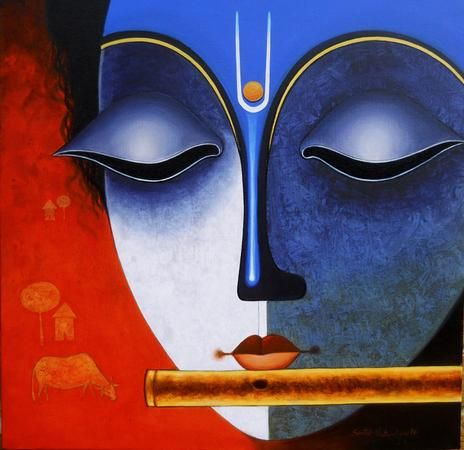 Beautiful #Art by Santosh Chattopadhyay. Acrylic On Canvas