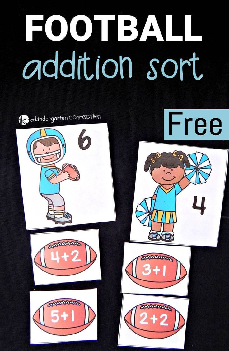 This super fun addition game is perfect for any little football fans! Great for around the superbowl or anytime!