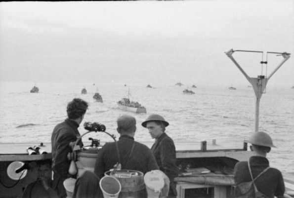 AUG 19 1942 Operation Jubilee – the raid on Dieppe A general view of some of the small naval craft covering the landing during the Combined Operations daylight raid on Dieppe