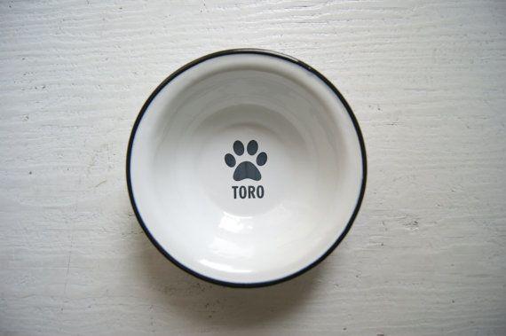 Personalized Dog Bowl ENGRAVED Pet Bowl Dog bowl pottery