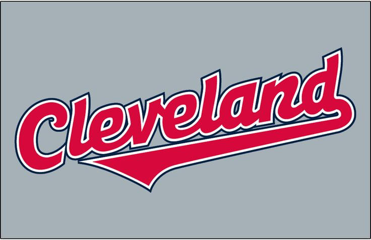 Cleveland Indians Jersey Logo (2008) - (Road) Cleveland in red with white and navy outlines on grey