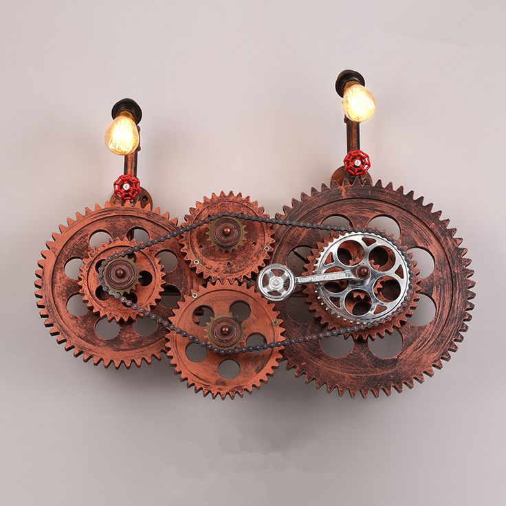 Find More Wall Lamps Information About Loft Vintage Gears Lights Industrial Warehouse Luminaire