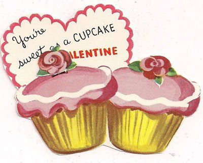 344 best images about VINTAGE VALENTINES DAY cards on – Cupcake Valentine Card