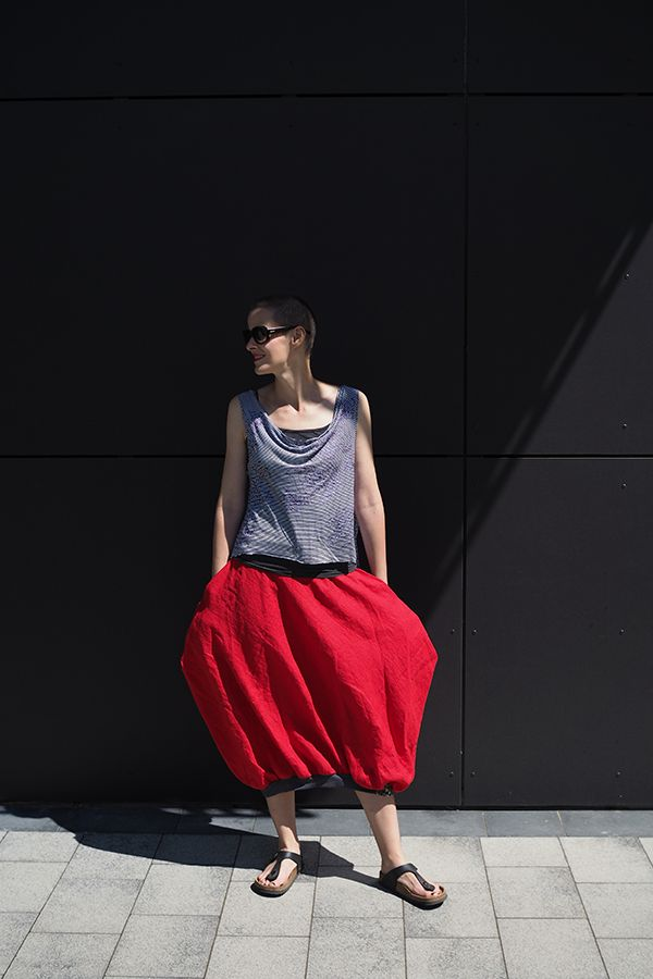 Summer is all about linen skirts...