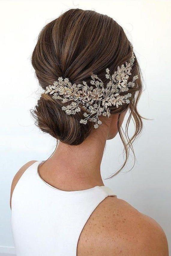 Bridal Hair Vine Bridal Hair Clip Wedding Headpiece Wedding Etsy In 2020 Wedding Hair Clips Bridal Hair Clip Easy Wedding Guest Hairstyles