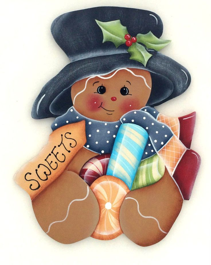 *TOLE - TALLY CUTE! ~ HP FRIDGE MAGNET Ginger with Peppermints