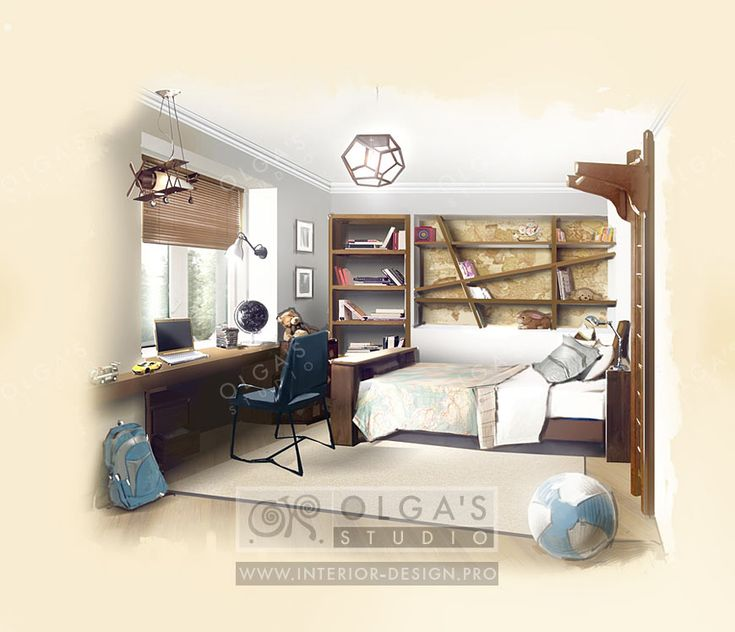 Chilrens Room on a Budget in the 60's Style http://interior-design.pro/en/blog/economical-childs-room-remodeling.php