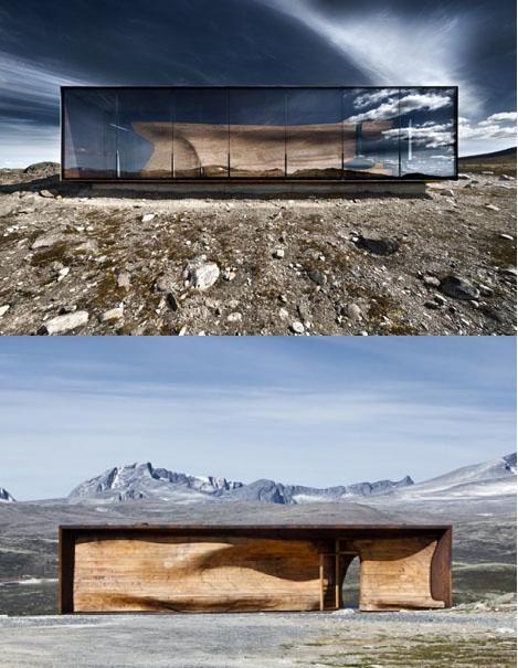 Tverrfjellhytta, Hjerkinn, Norway. Designed by Snøhetta