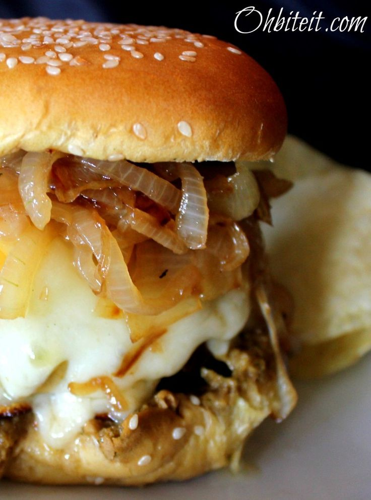 ~French Onion Soup Burger! | Oh Bite It
