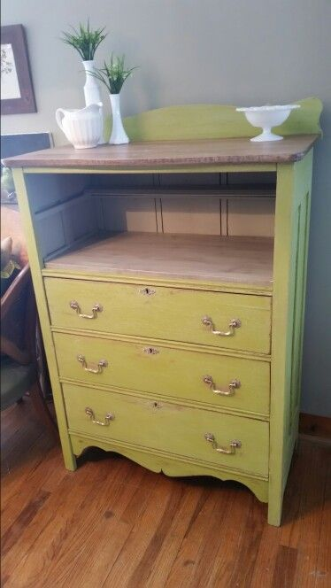 Tall Antique Dresser Redo Love The Color Love This
