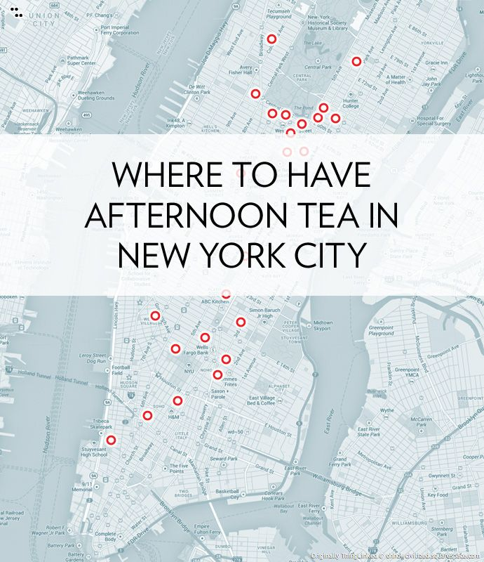 Where to Have Afternoon Tea in New York City, an Interactive Map