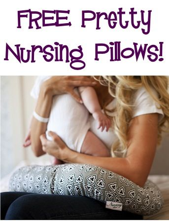 FREE Pretty Nursing Pillow Sale! {just pay s/h} ~ these make great Baby Shower gifts, too! #babies #thefrugalgirls