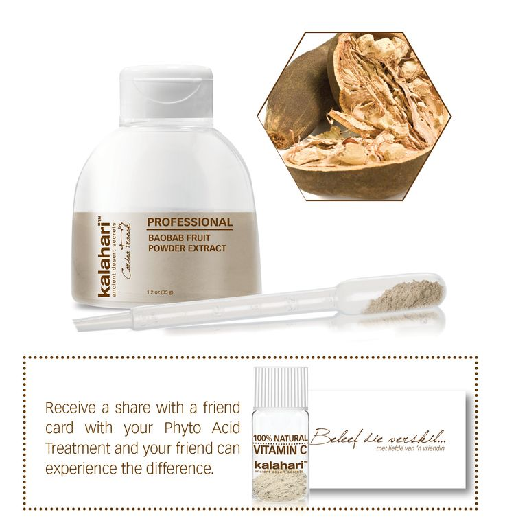 Experience visable results with our Phyto Acid Treatment and receive your complimentry Vitamin C Booster Vial + a 'Share with a friend' card so she can too experience the results when she books her Phyto Acid Treatment and purchases a Gel or Serum. Book your Phyto Acid Treatment now!	 Visit www.kalaharistyle.com for a Kalahari Salon near you.