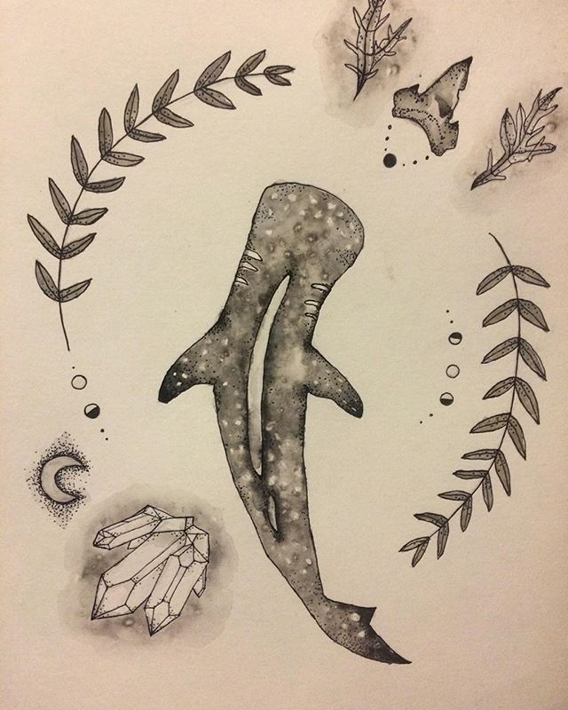 A little #whaleshark for my beautiful friend! #original #print #laurel #watercolor #art #moon #phases #shark #tooth #sharktooth #crystal #quartz #seaweed #paint #ink #pen #drawing Other prints available at: https://www.etsy.com/shop/ImperfectEtchings?ref=hdr_shop_menu