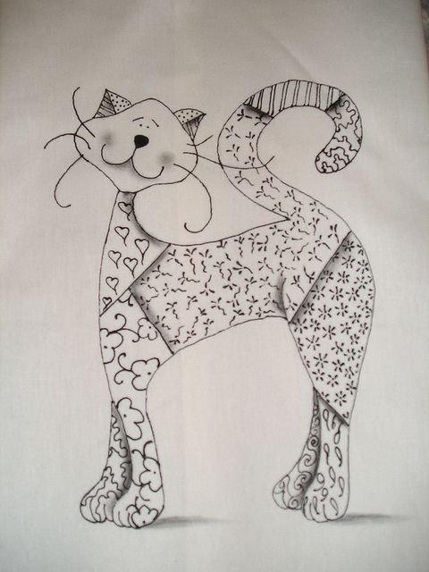 I want to do something similar but in embroidery. I think a zentangle inspired cat will be my first project.